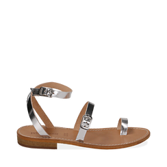Sandali argento laminato, Primadonna, 158100570LMARGE036, 001a