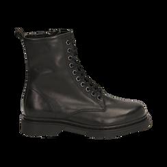 Botas militares de piel en color negro, Primadonna, 167729408PENERO036, 001 preview