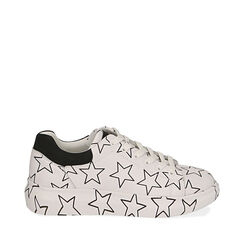 Sneakers bianche stampa stelle, Primadonna, 172621032EPBIAN035, 001a