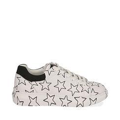 Baskets blanches à imprimé étoiles, Primadonna, 172621032EPBIAN035, 001a