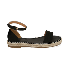 WOMEN SHOES ESPADRILLAS MICROFIBER NERO, Chaussures, 154913061MFNERO038, 001 preview