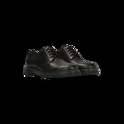 Brogues stringate stile Mannish nere in vera pelle, Primadonna, 127708061VINERO, 002 preview