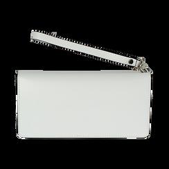 Portafoglio bianco in eco-pelle con laccetto per il polso, Borse, 133723651EPBIANUNI, 004 preview