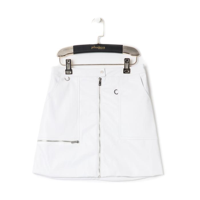 Minigonna bianca in eco-pelle con zip, Abbigliamento, 136501801EPBIANL