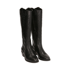 Camperas negras, tacón 4,5 cm, Zapatos, 170550211EPNERO035, 002 preview