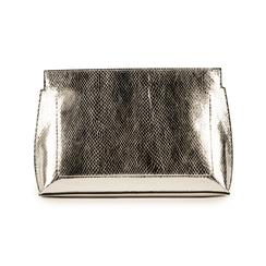 Pochette argenté en simili cuir imprimé vipère, Sacs, 15D208516EVARGEUNI, 003