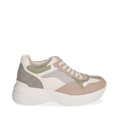 Dad shoes rosa in microfibra, Sneakers, 152899259MFROSA035, 001a