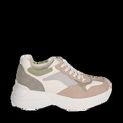 Dad shoes rosa in microfibra, Scarpe, 152899259MFROSA035, 001a
