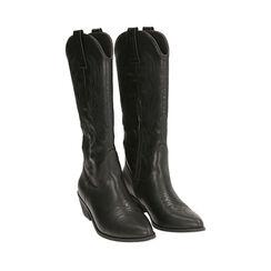 Camperos neri, tacco 5,5 cm , Chaussures, 174901920EPNERO036, 002a