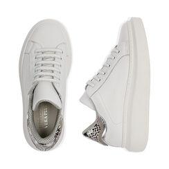 Sneakers bianco/nero in pelle, Primadonna, 17L600103PEBINE035, 003 preview