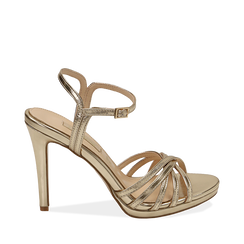 WOMEN SHOES SANDAL LAMINATED OROG, Chaussures, 152174020LMOROG036, 001a