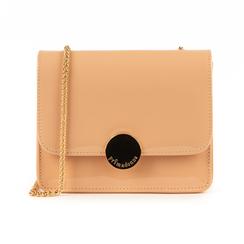 Petit sac nude en simili-cuir verni, Sacs, 155108225VENUDEUNI, 001 preview