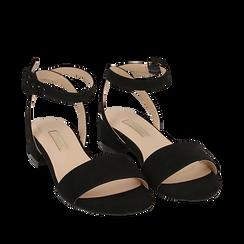 CALZATURA FLAT MICROFIBRA NERO, Chaussures, 154819193MFNERO038, 002a