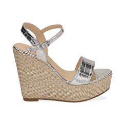 WOMEN SHOES WEDGE EP-CROCO ARGE, Zapatos, 154983292CCARGE036, 001 preview