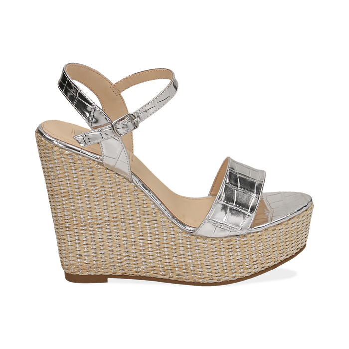 WOMEN SHOES WEDGE EP-CROCO ARGE, Zapatos, 154983292CCARGE036