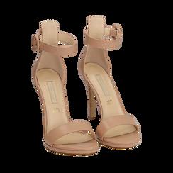 Sandali nude in eco-pelle, tacco 11 cm, Primadonna, 152123343EPNUDE035, 002a