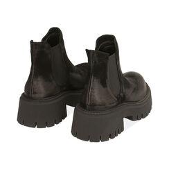 Chelsea boots neri in camoscio, tacco 5,5 cm , Primadonna, 187204438CMNERO035, 004 preview
