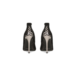 Décolleté canna di fucile effetto mirror con rete a calzino, tacco stiletto 10,5 cm, Scarpe, 122167245SPCANN, 003 preview