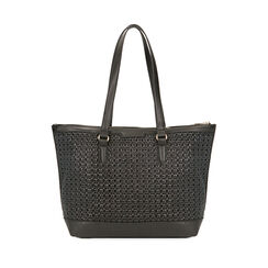 Maxi-bolso trenzado negro, Primadonna, 172301047EPNEROUNI, 001a