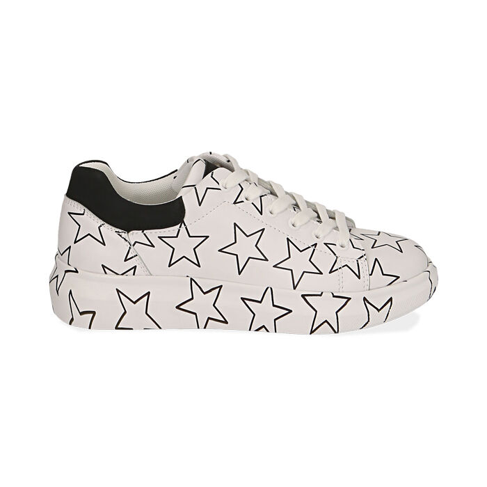 Sneakers bianche stampa stelle, Primadonna, 172621032EPBIAN035