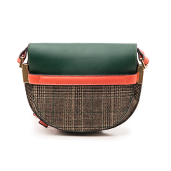 Borsa piccola verde in eco-pelle con dettagli in tweed, Borse, 142406448EPVERDUNI, 003 preview