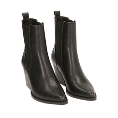 Camperos neri, tacco 7 cm , Scarpe, 170508001EPNERO035, 002a