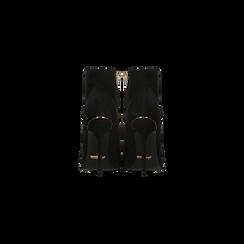 Tronchetti neri scamosciati, tacco stiletto 11 cm, Scarpe, 122168615MFNERO, 003 preview
