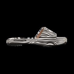 Mules flat zebrate in microfibra, Primadonna, 134989113MFZEBR036, 001 preview