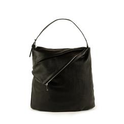 Maxi-bag nera in eco-pelle, Primadonna, 151990171EPNEROUNI, 001a