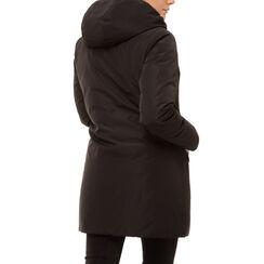 Piumino con cappuccio nero in nylon, Primadonna, 168500572NYNEROL, 002a