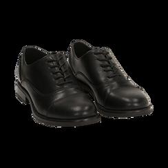 Stringate nere, tacco 4 cm, Primadonna, 160621674EPNERO037, 002 preview