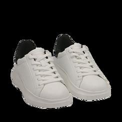 Sneakers blanc/noires , Primadonna, 162602011EPBINE035, 002a