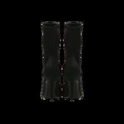 Tronchetti calzino lycra neri, tacco 10 cm, Scarpe, 122187851LYNERO, 003 preview