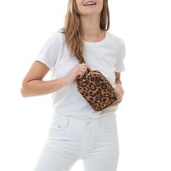 Marsupio leopard in microfibra, Borse, 133322210MFLEOPUNI, 002a