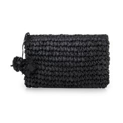Pochette mare nera in paglia intrecciata, Primadonna, 134504239PGNEROUNI, 001 preview
