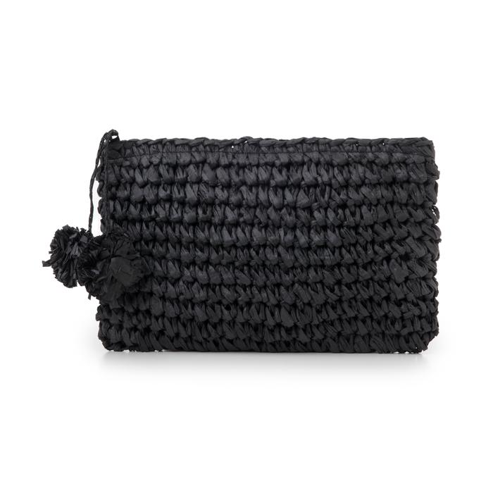 Pochette mare nera in paglia intrecciata, Primadonna, 134504239PGNEROUNI