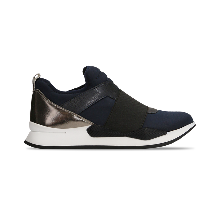 Sneakers blu in lycra con fascia elastica, Primadonna, 121617843LYBLUE