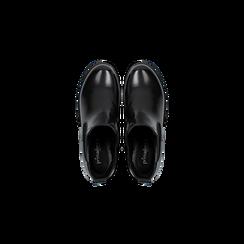 Chelsea Boots neri con suola alta, tacco 5,5 cm, Scarpe, 122808601ABNERO, 004 preview