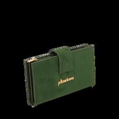 Portafogli verde in microfibra, IDEE REGALO, 165122158MFVERDUNI, 002a