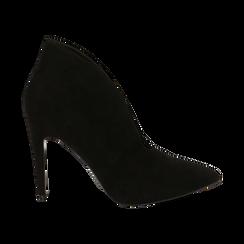 Ankle boots neri in microfibra, tacco 10,50 cm , Primadonna, 162123746MFNERO036, 001 preview