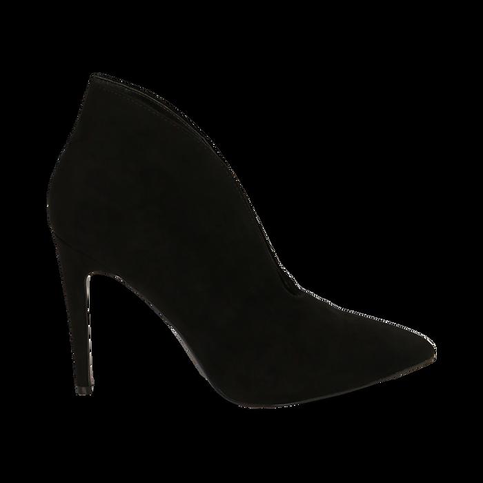 Ankle boots neri in microfibra, tacco 10,50 cm , Primadonna, 162123746MFNERO036