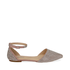 Ballerines bijou en microfibre nude, Chaussures, 154968041MPNUDE035, 001a