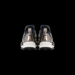 Sneakers blu in lycra con fascia elastica, Primadonna, 121617843LYBLUE, 003 preview