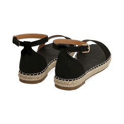 WOMEN SHOES ESPADRILLAS MICROFIBER NERO, Chaussures, 154913061MFNERO038, 004 preview
