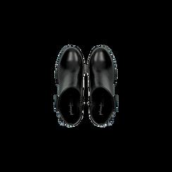 Tronchetti neri in vera pelle, tacco 5 cm, Primadonna, 128900310VINERO036, 004 preview