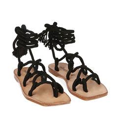 Sandales en tissu noir, Primadonna, 17A131482TSNERO035, 002a
