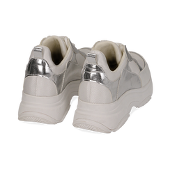 Dad shoes en eco-piel color blanco/plateado, Zapatos, 15K429169EPBIAR036, 004 preview