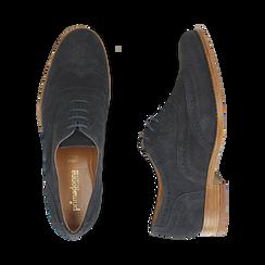 CALZATURA ALLACCIATO CAMOSCIO BLUE, Zapatos, 159908418CMBLUE036, 003 preview