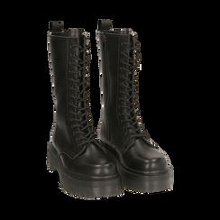 Botas militares en color negro, Primadonna, 162829101EPNERO035, 002 preview