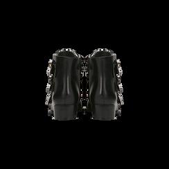 Biker neri con puntali silver e decorazioni, Primadonna, 129306615EPNERO, 003 preview